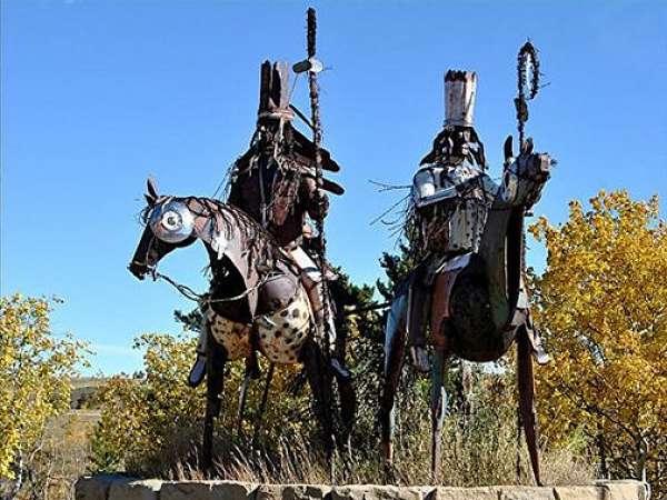 Blackfeet Nation sculpture