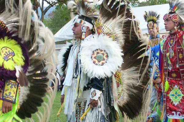 Colorful Pow Wow at Native American Reservations