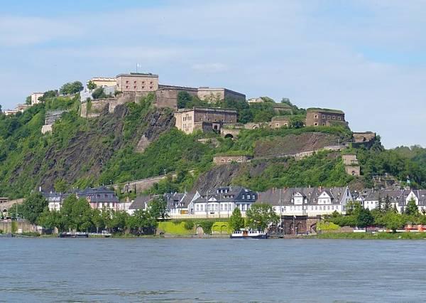 Koblenz Germany the Ehrenbreitstein fortress