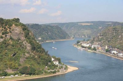 beautiful Rhine river valley