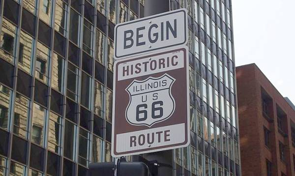 route 66 start chicago